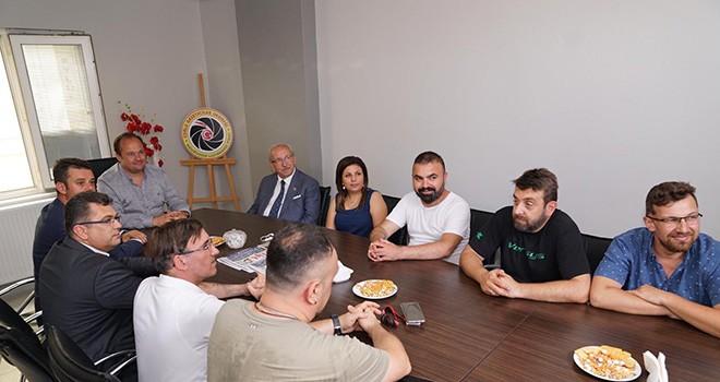 Başkan Albayrak'tan Çorlu Gazeteciler Derneği'ne Ziyaret