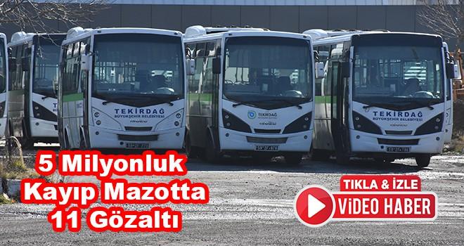 Tekirdağ Büyükşehir Belediyesi'nin Şirketine Yolsuzluk Operasyonu 11 Gözaltı