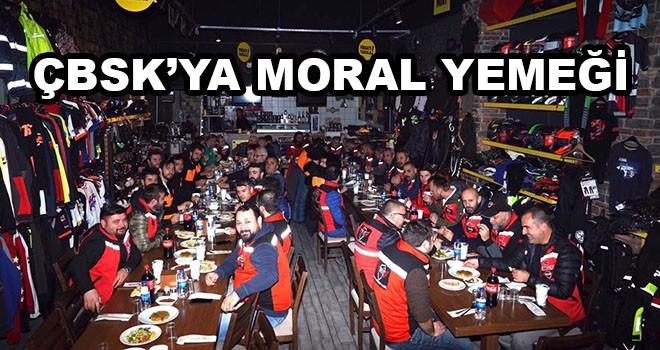 Trakya Motosiklet Kulübü'nden ÇBSK'ya moral yemeği