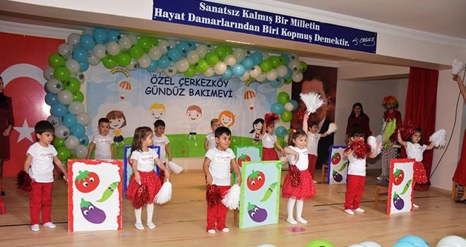 Çerkezköy'de Çocuk Şenliği Coşkusu Yaşandı