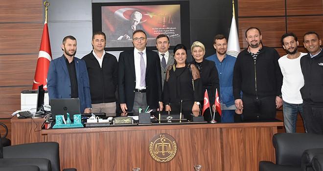 Çorlu Gazeteciler Derneği'nden Başsavcı Yiğiter'e Ziyaret