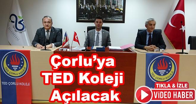 Çorlu'ya TED Koleji Açılacak