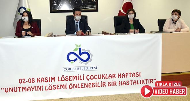 Belediye Meclisi Lösemili Çocuklar Haftası İçin Maske Taktı