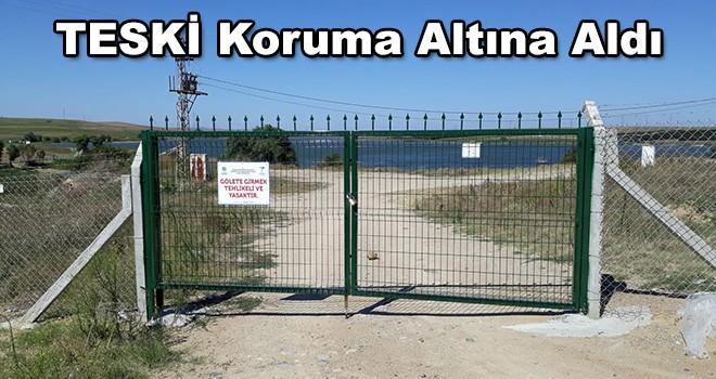 TESKİ Türkmenli Göletini Koruma Altına Aldı