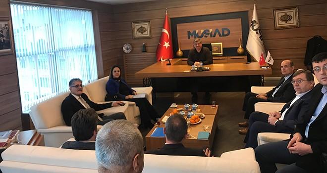 İŞKUR VE SGK İl Müdürlerinden MÜSİAD'a Ziyaret