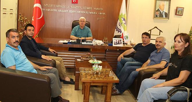 Başkan Yüksel Çorlu TSO Başkanı Volkan ve fırıncı esnafını konuk etti