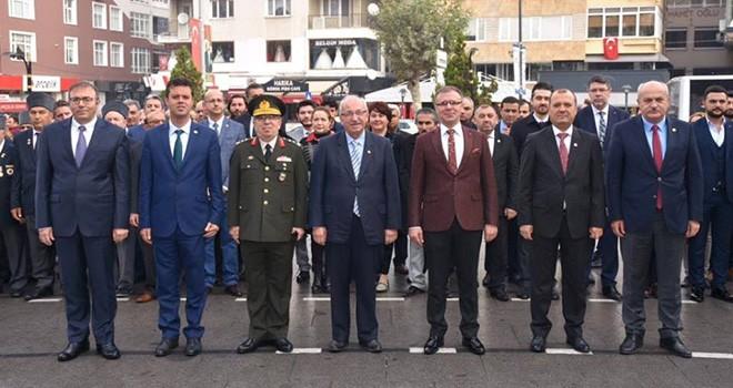 Başkan Albayrak Çorlu'da Çelenk Sunma Törenine Katıldı