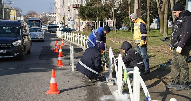 Belediye Ekipleri Çorlu'yu Güzelleştirmeye Çalışıyor