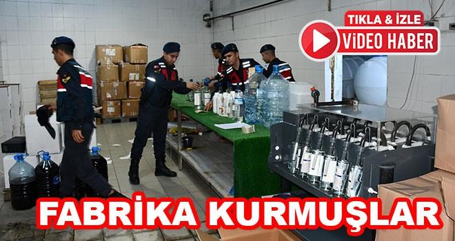 Süt Fabrikasını Kaçak İçki Fabrikasına Çevirmişler