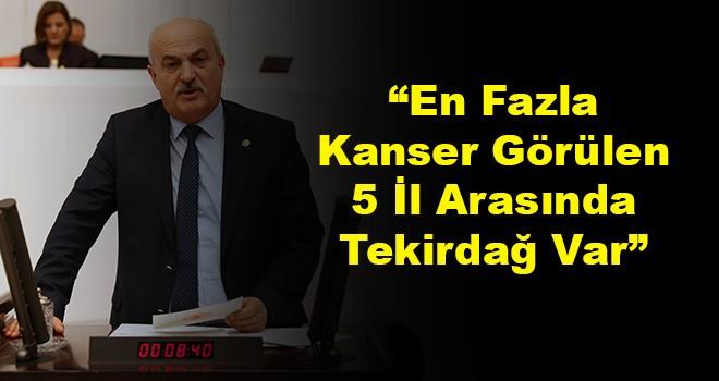 Milletvekili Enez Kaplan Ergene'deki Kanseri Sağlık Bakanına Sordu