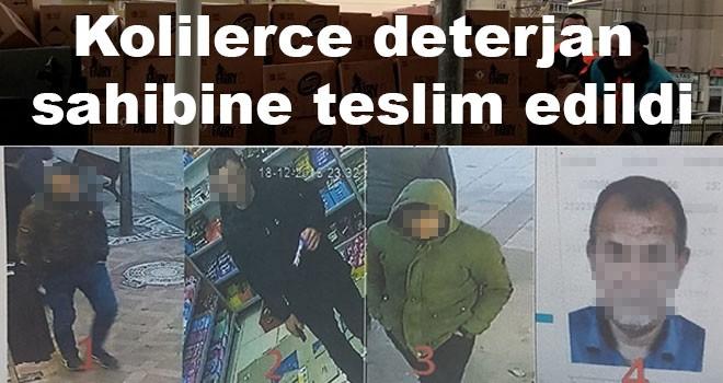 Deterjan hırsızları polise yakalandı