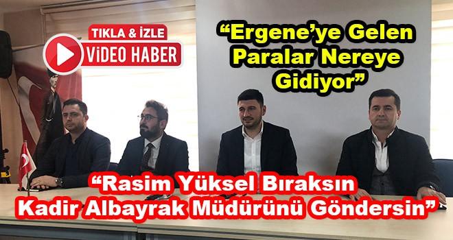 """Cem Karaca, Rasim Yüksel'e Sordu """"Ergene'ye Gelen Para Nereye Gidiyor"""""""