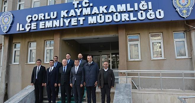 Çorlu TSO'dan Emniyet Müdürü Serdar Kurtoğlu'na Ziyaret