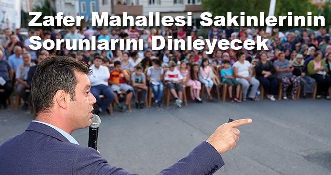 Başkan Sarıkurt Zafer Mahallesi sakinlerinin sorunlarını dinleyecek