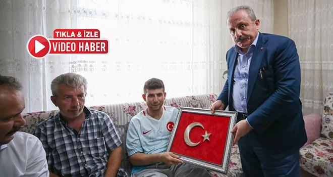 TBMM Başkanı Şentop'tan Gazi Tarık Cür'e ziyaret