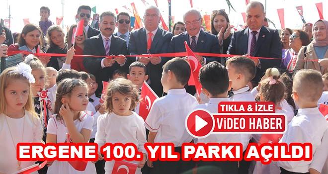 Ergene 100. Yıl Parkı açıldı