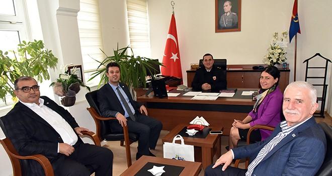 Başkan Sarıkurt'tan Jandarma İlçe Komutanı Korkmaz'a Ziyaret