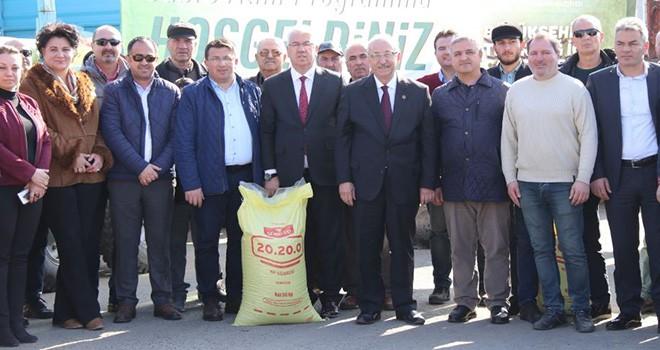Ergene'de Gübre Atma Programı Düzenlendi