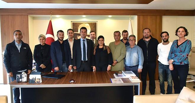 Çorlu Gazeteciler Derneği'nden Başkan Sarıkurt'a Ziyaret