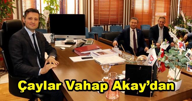 Çerkezköy'de Çaylar Başkan Vahap Akay'dan
