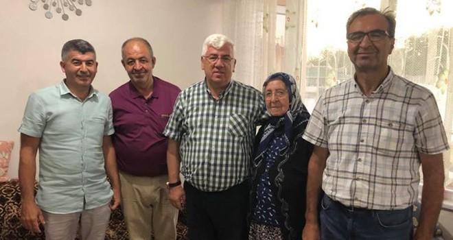 Başkan Yüksel Şehit Ailelerini Ziyaret Etti