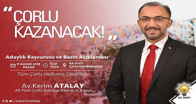 AK Parti'nin Çorlu'dan İlk Aday Adayı Avukat Kerim Atalay