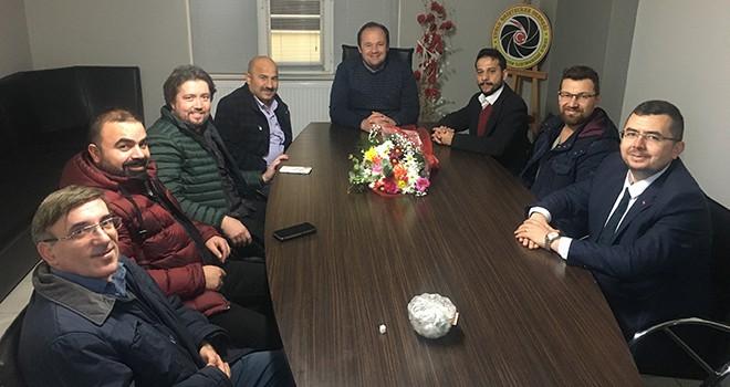 Çorlu Gazeteciler Derneği'ne 10 Ocak Ziyaretleri
