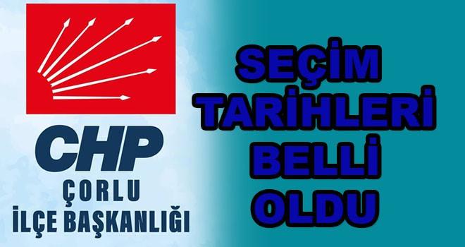 CHP'de seçim tarihleri belli oldu