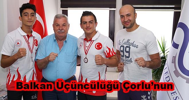 Çorlulu sporcular Balkan üçüncüsü oldu