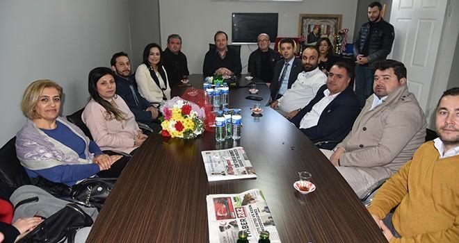 Milletvekili Candan Yüceer'den Çorlu Gazeteciler Derneği'ne Ziyaret