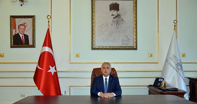 Vali Aziz Yıldırım'ın 10 Kasım Atatürk'ü Anma Günü Mesajı