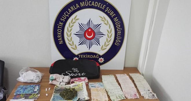 Çorlu polisinden Çerkezköy'de uyuşturucu operasyonu