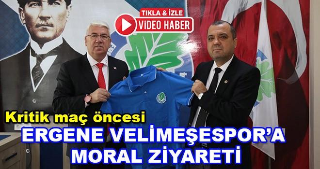 Başkan Yüksel ve Milletvekili Aygun'dan Ergene Velimeşespor'a moral ziyareti