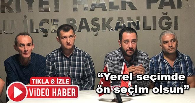 CHP Çorlu İlçe Örgütü'nde ön seçim açıklaması