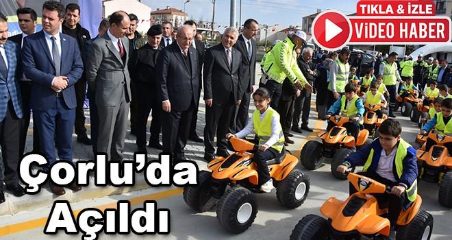 Trakya'nın en büyük trafik eğitim parkı Çorlu'da açıldı