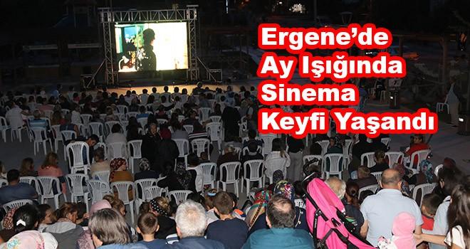 Ergene'de ay ışığında sinema keyfi yaşandı