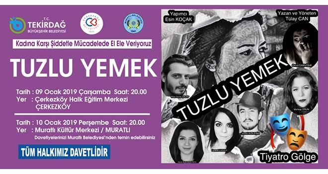Tekirdağ Büyükşehir Belediyesi'nden Ücretsiz Tiyatro