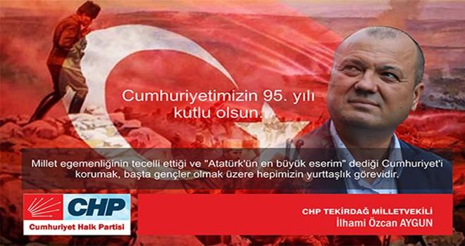"CHP Tekirdağ Milletvekili Aygun, ""Cumhuriyet fazilettir"""