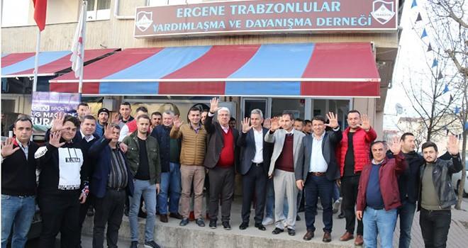 Başkan Yüksel Ergene Trabzonlular Derneğini Ziyaret Etti
