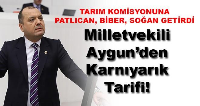 Milletvekili İlhami Özcan Aygun'den Karnıyarık Tarifi!