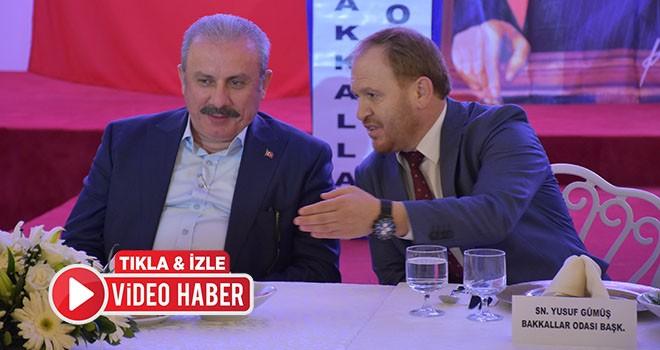 Çorlu Bakkallar Odası TBMM Başkanı Prof. Dr. Mustafa Şentop Onuruna Yemek Verdi