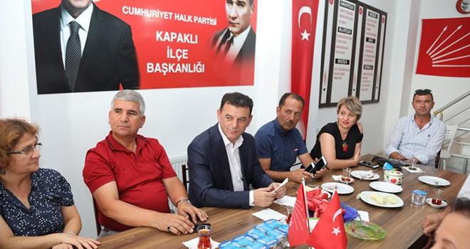 Başkan Mustafa Çetin'den CHP İlçe Teşkilatına Ziyaret