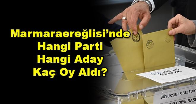 Marmaraereğlisi'nde Hangi Parti Hangi Aday Kaç Oy Aldı