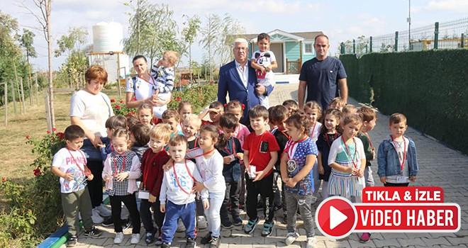 Anaokulu öğrencilerinden Ergene Belediyesi hayvan bakımevine ziyaret