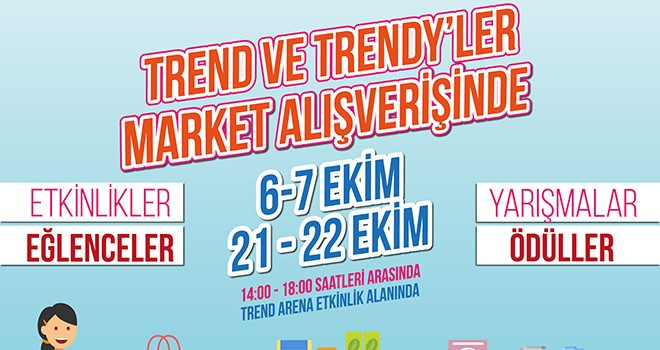 Trend Arena'nın Minik Trend ve Trendy'leri Market Alışverişinde Buluşuyor