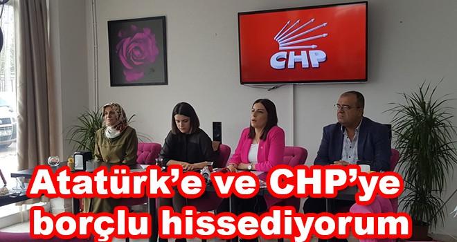 """CHP Ergene Başkan Adayı Mehtap Tural, """"Atatürk'e ve CHP'ye borçlu hissediyorum"""""""
