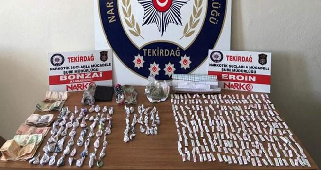 Çorlu'da polisten torbacılara operasyon 9 gözaltı