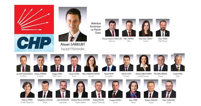 İşte Çorlu Belediyesi'nin yeni meclisinde yer alan CHP Üyeleri