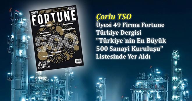49 Üye Fortune Türkiye Dergisi'nde